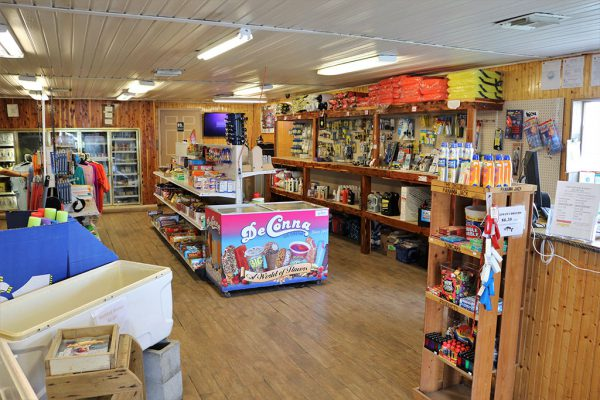 An image of the inside of the Twin Rivers Marina store in Crystal River.