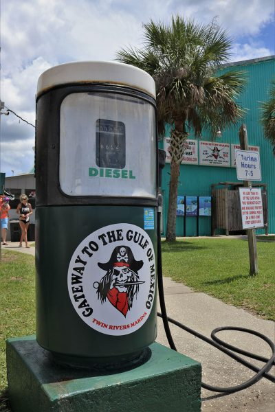 Image of the Twin Rivers Marina diesel ful pump.