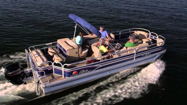 image of the upgraded fishing pontoon boat